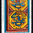 Stock Photo: Postage stamp GDR 1972 Tapestry with Animal Design, Anatolia