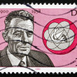Stock Photo: Postage stamp GDR 1980 Frederic Joliot-Curie, French Physicist