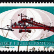 Postage stamp GDR 1971 Crushing and Conveyor Plant — Stock Photo