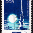 Postage stamp GDR 1973 Rocket Launching — Stock Photo