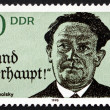 Stock Photo: Postage stamp GDR 1990 Kurt Tucholsky, Novelist, Journalist
