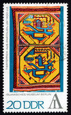 Postage stamp GDR 1972 Tapestry with Animal Design, Anatolia — Stock Photo