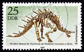 Postage stamp GDR 1990 Kentrurosaurus, Dinosaur, Extinct Animal — Stock Photo