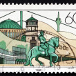 Postage stamp Germany 1988 View of City of Dusseldorf — Stock Photo