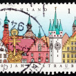 Postage stamp Germany 1997 View of City of Straubing — Stock Photo