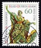 Postage stamp Germany 1992 Sculpture by Egid Quirin Asam — Stock Photo