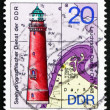 Postage stamp GDR 1974 Darsser Ort, Lighthouse — Stock Photo #34960625