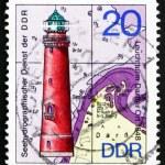 Postage stamp GDR 1974 Darsser Ort, Lighthouse — Stock Photo