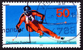 Postage stamp Germany 1978 Giant Slalom, Winter Sport — Stock Photo