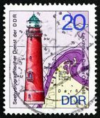 Postage stamp GDR 1974 Darsser Ort, Lighthouse — Stock Photo