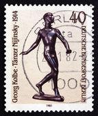 Postage stamp Germany 1981 Nijinsky, by Georg Kolbe — Stock Photo