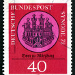 Stock Photo: Postage stamp Germany 1972 Wurzburg Cathedral, Seal