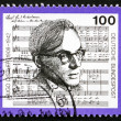 Stock Photo: Postage stamp Germany 1992 Hugo Distler, Composer