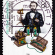 Stock Photo: Postage stamp Germany 1984 Philipp Reis, Physicist and Inventor
