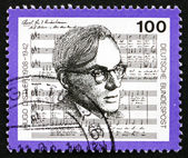 Postage stamp Germany 1992 Hugo Distler, Composer — Stock Photo