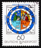 Postage stamp Germany 1982 Calendar Illumination, by Johannes Ra — Stock Photo