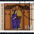 Postage stamp Germany 1979 Hildegard von Bingen with Manuscript — Stock Photo