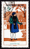 Postage stamp GDR 1966 Woman from Altenburg, Regional Costume — Stock Photo
