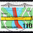 Postage stamp Germany 1998 Glienicke Bridge, Berlin — Stock Photo #35209135