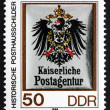 Postage stamp GDR 1990 Coat of Arms of Imperial Postal Agency — Stock Photo