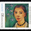 Postage stamp Germany 1996 Self-portrait, by Paula Modersohn-Bec — Stock Photo