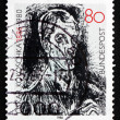 Postage stamp Germany 1986 Bach Cantata, Detail, by Oskar Kokosc — Stock Photo
