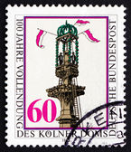 Postage stamp Germany 1980 Completion of Cologne Cathedral — Stock Photo