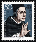 Postage stamp Germany 1980 Albertus Magnus, Dominican Friar and — Stock Photo