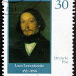 Stock Photo: Postage stamp GDR 1990 Louis Lewandowski, Composer