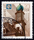 Postage stamp GDR 1990 Distribution Linkage, Berlin-Kopenick Pos — Stock Photo