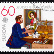Postage stamp Germany 1979 Post Office Window, 1854 — Stock Photo