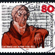 Postage stamp Germany 1986 Carl Maria von Weber, Composer — Stock Photo