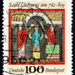 Postage stamp Germany 1992 St. Ludgerus, Missionary — Stock Photo