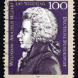 Postage stamp Germany 1991 Wolfgang Amadeus Mozart, Composer — Stock Photo