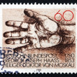Postage stamp Germany 1980 Helping Hand — Stock Photo