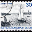 Postage stamp Germany 1976 Sailboat on Havel River — Stock Photo