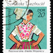 Postage stamp GDR 1971 SorbiDance Costume, Hoyerswerda — Stock Photo #35426985