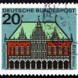 Postage stamp Germany 1965 City Hall, Bremen — Stock Photo