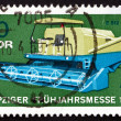 Postage stamp GDR 1969 Combine, Agricultural Machine — Stock Photo
