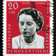 Postage stamp GDR 1961 Hertha Lindner, Resistance Fighter — Stock Photo