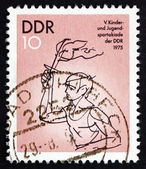 Postage stamp GDR 1975 Torch Bearer — Stock Photo