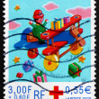 Stock Photo: Postage stamp France 1999 Toy Airplane