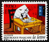 Postage stamp France 1997 Writing Letter — Stok fotoğraf