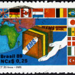 Postage stamp Brazil 1989 Express Mail, EMS — Stock Photo #35738731