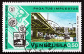 Postage stamp Venezuela 1974 Highway and Overpass — Stock Photo