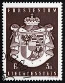 Postage stamp Liechtenstein 1969 Coat of Arms of Liechtenstein — Stock Photo