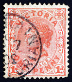 Postage stamp Australia, Victoria 1901 Portrait of Queen Victori — Stock Photo
