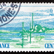 Postage stamp France 1976 View of Central France — Stock Photo