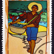 Postage stamp Cuba 1970 Vietnamese Fisherman — Stock Photo