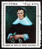 Posta pulu Küba 1970 thomas de keyser tarafından bir kadın portresi — Stok fotoğraf